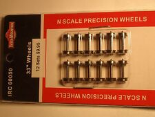"N-SCALE INTERMOUNTAIN IRC 60050 METAL 33"" WHEELS 12 SETS BIGDISCOUNTTRAINS"