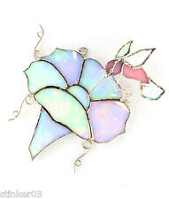 Morning Glory & Hummingbird Switchables or Sun Catcher Stained Glass  SW024