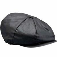 Belstaff Hislop Waxed Cotton Motorbike Motorcycle Cap Black