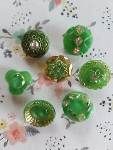 Collectible Moonglow Glass buttons