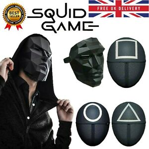 Squid Game Mask Halloween TV Cosplay Masquerade Horror Costume Party Xmas Prop