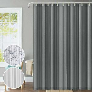 Extra Long Wide Shower Curtains Waterproof Vinyl Fabric Bathroom Curtain W Hooks