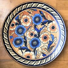 Rare Charlotte Rhead Wood & Sons Bursley Ware Large Wall Plaque - 1793 Pattern