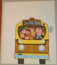 Yellow School Bus Illustration Art Casein Painting-1960s-William Gorman
