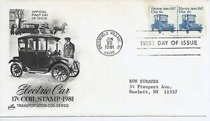 US Scott #1906, First Day Cover 6/25/81 Greenfield Village Line Pair Plate #2