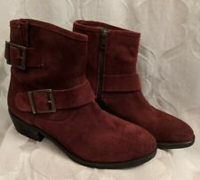 Seychelles Castanets Buckle Boots Red Maroon 8.5