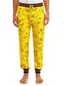 NWT Men's Pokemon Pikachu Pajama Pant Lounge Sleep Sz XL Jogger LICENSED