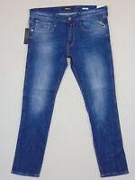 Replay ANBASS Slim Fit  W34 L32  RRP £145  Mens Blue Comfort Denim Jeans