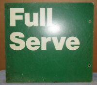 Used/Vtg FULL SERVE Gas Station 20x18 Advertising Sign Steampunk/Man Cave S424