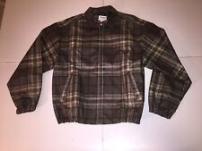 New Vintage Greg Norman Plaid Light Jacket Men's Small