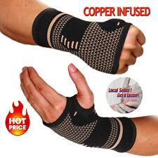 Copper Wrist Hand Brace Carpal Tunnel Support Splint Fit Arthritis Sprain Pain S
