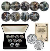 STAR WARS Genuine 1980 Washington Quarter 9-Coin Set w/BOX - OFFICIALLY LICENSED
