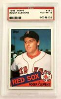 Roger Clemens 1985 Topps RC #181 PSA 8 NM-MT Rookie Red Sox Astros Yankees