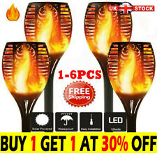 More details for 1-6pcsled flame solar torch light waterproof flickering dancing path garden lamp