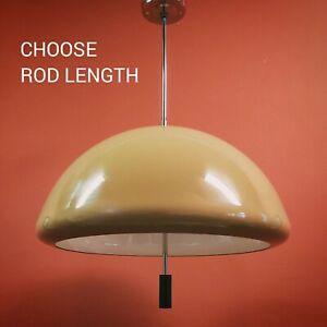 brown MEBLO retro pop art space age pendant ceiling lamp light Guzzini