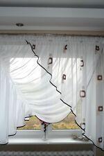Prêt À L'emploi Rideau De Fenêtre Voile Filet 150 x 350 cm Marron AG23 Art Déco