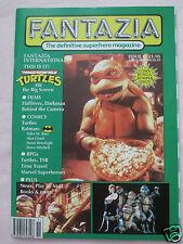 FANTAZIA - THE SUPERHERO MAGAZINE - NINJA TURTLES/FLATLINERS/MARVEL ETC -  MINT