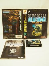 MSX 2 METAL GEAR 2 SOLID SNAKE KONAMI Used Japan Video Game Rare JP EMS Free