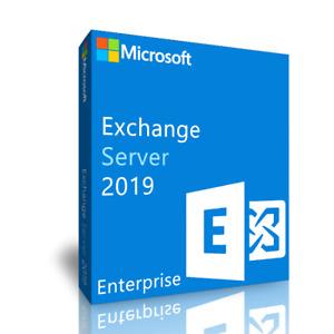 Exchange Server 2019 Standard Key License MS Unlimited CPU Cores Genuine