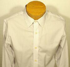 men's Banana Republic Non-Iron Slim Fit Dress Shirt tiny purple dots MEDIUM