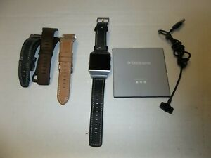 Fitbit Ionic Bluetooth Activity Tracker Silver/Gray w/ Leather Bands