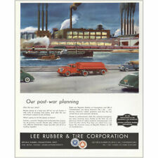 1944 Lee Rubber & Tire: Our Post War Planning Vintage Print Ad