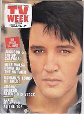 ELVIS Presley Vintage Victorian TV Week January 1974 Kamahl Archie Bunker GUC