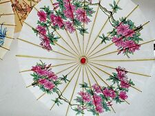JAPANESE WHITE PAPER PARASOL CHINESE PINK LILY FLOWER WEDDING FANCY DANCE PARTY
