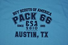 T-SHIRT L LARGE BOY SCOUTS OF AMERICA PACK 66 AUSTIN TEXAS BSA SHIRT