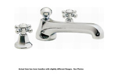 California Faucets To-4708-33-Pc Roman Tub Trim w/ Lever Handle Polished Chrome