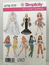 Simplicity Fashion Doll Pattern 4719