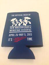 VINTAGE NEW ORLEANS 2013 JAZZ & HERITAGE FESTIVAL FEST MILLER LITE BEER HOLDER