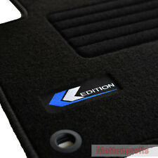 Mattenprofis Velours Logo Fußmatten für VW Caddy + Life ab Bj.2004 - 2015 sw ov