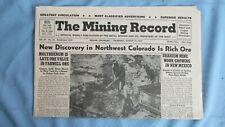 New listing 1954 Mining Record-Northwest Colorado Mining-Colorado Plateau Uranium Mines-