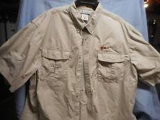 Columbia Men'S Pfg Vented Shirt Fishing Short Sleeve 2Xl Xxl Big Tall Brown Euc