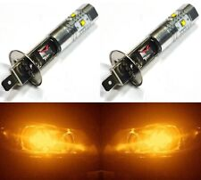 LED 30W H1 Orange Amber Two Bulbs Head Light Replacement Show Use Low Beam