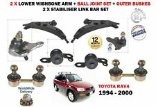 POUR TOYOTA RAV4 94-00 2x BRAS DE SUSPENSION AVANT TRIANGLES SUPERPOSÉS+DOUILLES