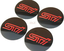 56mm STI Subaru WRX Wheel Center Hub Caps Emblem Badge Decal Symbol Sticker New