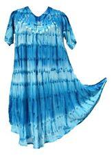 Tie Dye Hippie Tunic Top Dress Boho Beach Kaftan Size 14 16 18 20 22 24 26