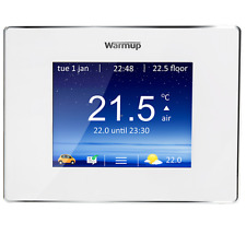NEW WARMUP 4IE DIGITAL THERMOSTAT TOUCHSCREEN BRIGHT PORCELAIN WHITE