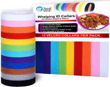 ZACAL Whelping Collars for Newborn Puppies and Kittens, Easy To Identify and -