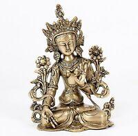 SCHÖNE WEIßE TARA 27,5 CM HOCH 3KG SCHWER BUDDHISMUS YOGA BUDDHA YOGA STATUE GOA