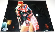 Axl Rose Guns & Roses Signed Autographed 8x10 Live Photo PBAS Certified #5