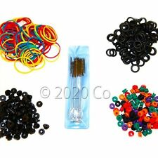 Tattoo Supplies 100 Tattoo O-rings, 100 Rubber Bands, 100 Grommets, 100 Nipples