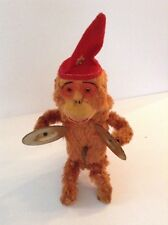 VINTAGE WIND-UP MONKEY PLAYING CYMBAL'S TOY -1950'S- ALPS- JAPAN