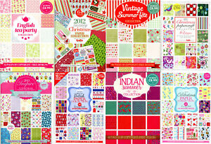 Backing Paper Collections for Cardmaking - Various designs