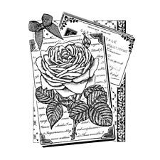 Crafty Individuals RAMBLING ROSE Rubber Stamp