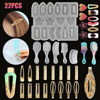 DIY Silicone Resin Mold Hair Pin Clip Jewelry Casting Epoxy Mould Craft Tool Kit