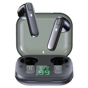 Bluetooth True Wireless Earphone Deep Bass Earbuds with Mic Sports Headphone US