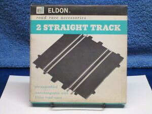 1960's ELDON 2 STRAIGHT TRACK PACK ROAD RACE ACCESSORIES MIB OLD STORE STOCK